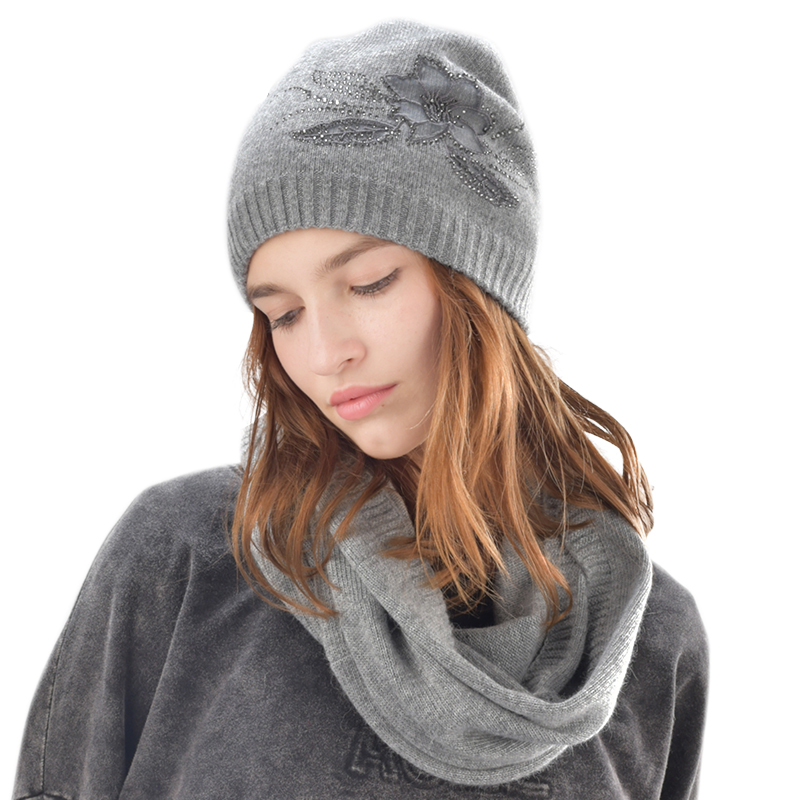 FURTALK winter women hat and scarf set