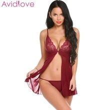 05110c8a3f8 Avidlove Erotic Lingerie for Women Sexy Underwear Porn Babydoll Dress Hot  Lace Open Crotch Sexy Lingerie