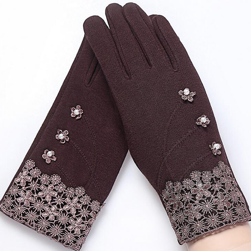NIUPOZ Fashionable and Elegant Women Touch Screen Gloves for Winter made of Non Inverted Velvet to Keep Hands Warm 3