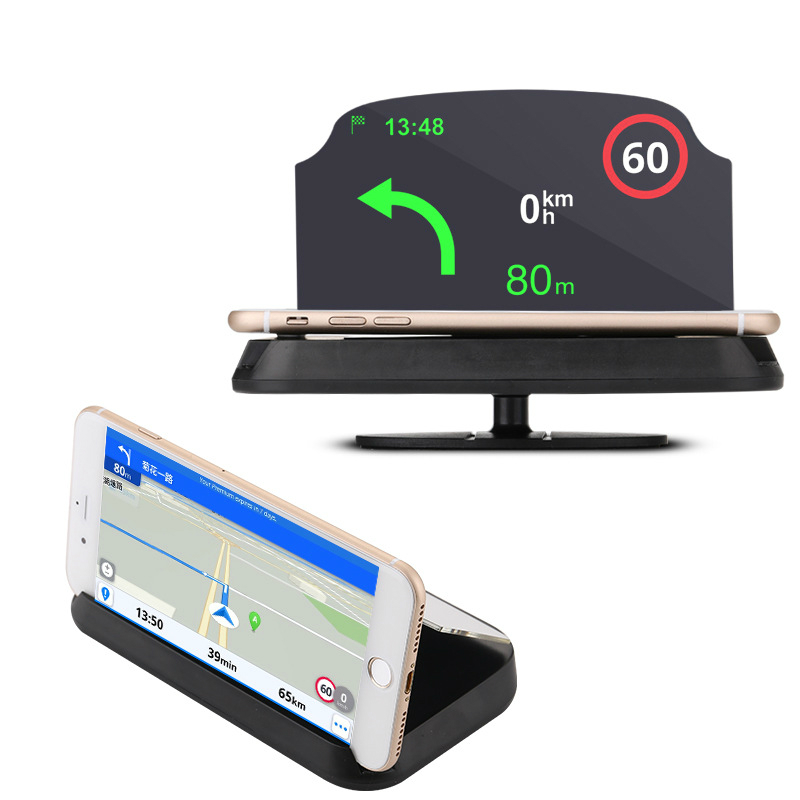 Auto GPS Navigation Holder HUD Head Up Projection Display Non slip Phone Bracket|GPS Stand|   - title=