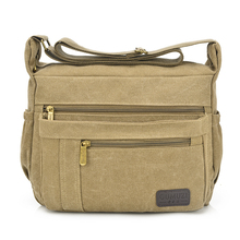 Brand 16OZ Thick Canvas Casual Cross Body Shoulder Bag Men s Messenger Bags Male Travel Pack