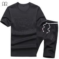 T Shirts Shorts Summer Brand Tshirt Men Letter Printed Sportsuit Set 2017 T Shirt Suit Male