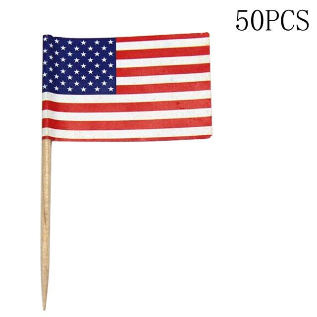 50 stücke Mini Amerikanische Flagge Polyester USA Flag ...