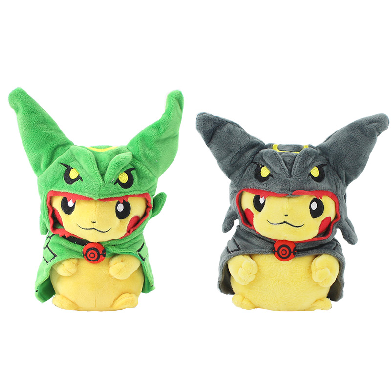 8 20 CM Pikachu Cosplay Mega Rayquaza Plush Toy Stuffed Animals  2 Styles to Choose Free Shipping 8 20 CM Pikachu Cosplay Mega Rayquaza Plush Toy Stuffed Animals  2 Styles to Choose Free Shipping