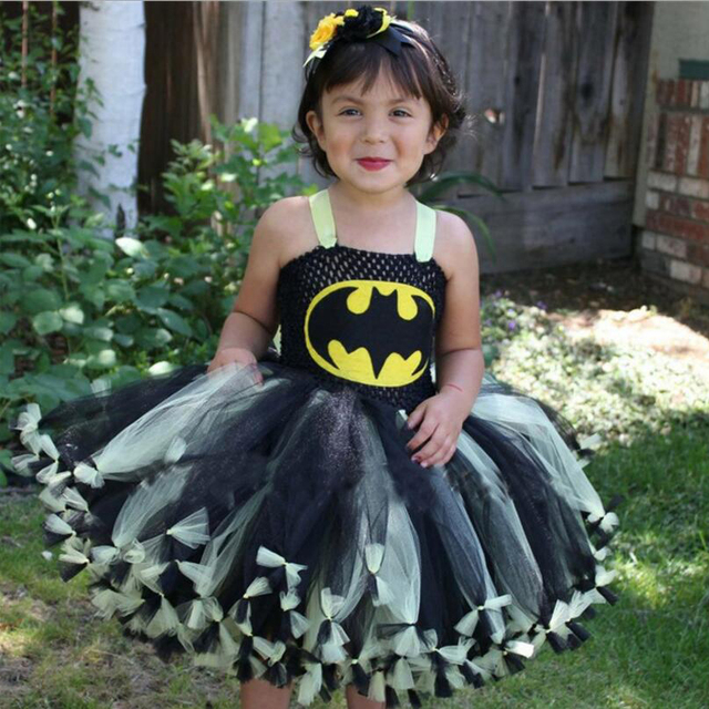 halloween costume for child superhero batman costume girls batman dress children clothes stage performance costume kids