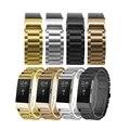 Clássico de alta Qualidade 3 Pontos De Aço Inoxidável Correia De Pulso Para Fitbit Carga 2 Faixa de Relógio de 4 Cores Para A Escolha