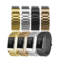 High Quality Classic 3 Points Stainless Steel Wrist Strap For Fitbit Charge 2 Watch Band 4 Colors For Choice