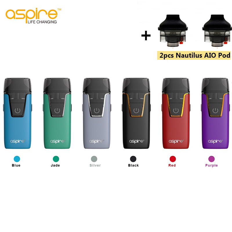 D'origine Aspire Nautilus AIO Vaporisateur Intégré 1000 batterie mah 4.5 ml/2.0 ml Capacité Pod Vaporisateur Kit Électronique Cigarette vs brise 2