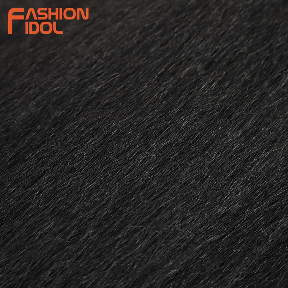 MODA IDOL 26 Inç sentetik saç uzantıları Yaki Düz Saç Demetleri 6 adet/paket Ombre Kahverengi Saç Örgü Demetleri Ücretsiz Kargo