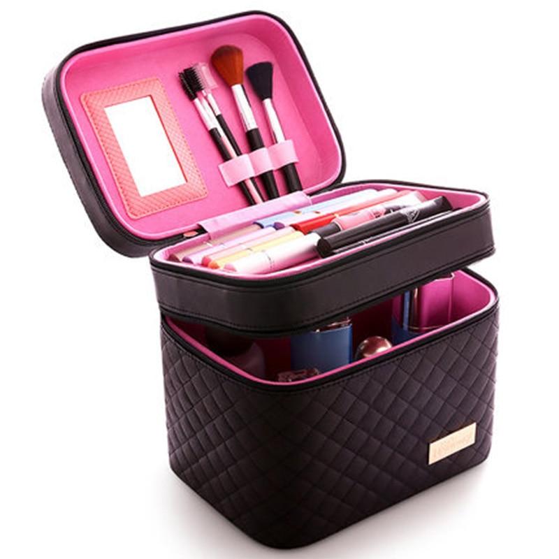Women Cosmetic Box Designer High Quality Portable Bag  Large Capacity Makeup Round Drawstring Bags
