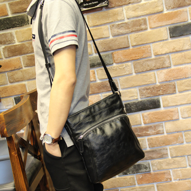 Xiao .P New Men Shoulder Bags High Quality pu Leather Male Bag Single Slim Business Travel Ipad Small Crossbody Mens Bag yuanting wang does confucius xiao travel across time and languages
