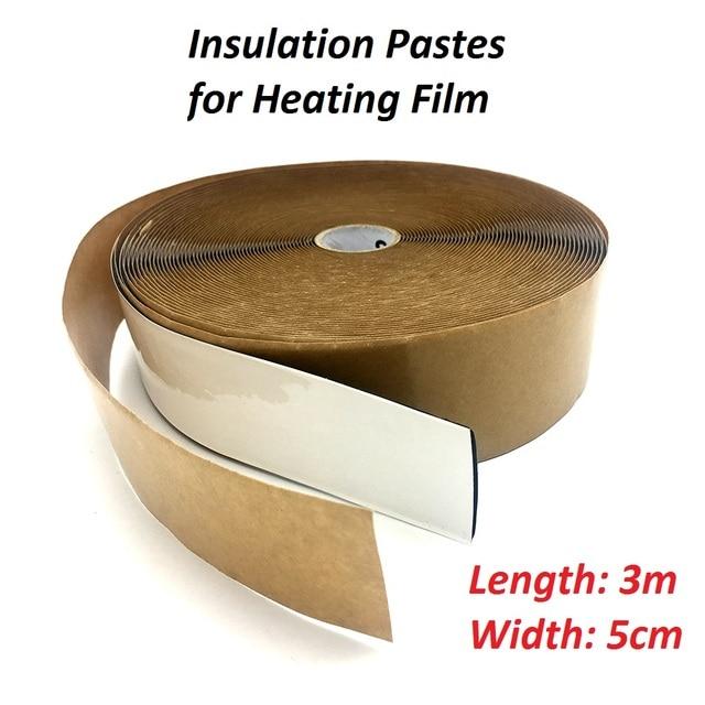 3 metros de Carbono Filme de Aquecimento Por Piso Radiante Isolamento Daub Pastas de Isolamento à prova de Água
