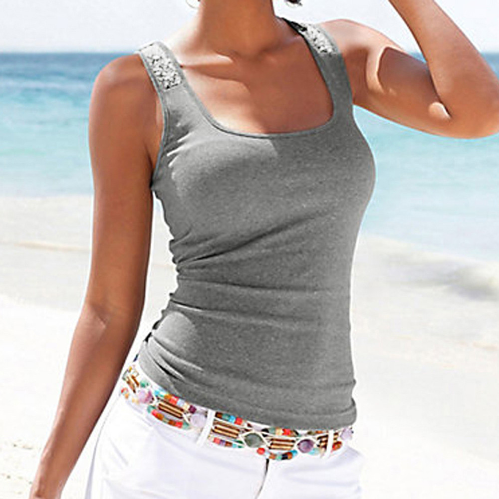 Fashion Women Basic Vest Top Sleeveless Casual Summer Tank Top T-Shirt Underwear