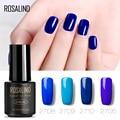 Гель-лак Rosalind 1S для ногтей, 7 мл, серия синих цветов, для нейл-арта, необходимый верхний и базовый слой, удаляемый замачиванием УФ-гель, стойки...
