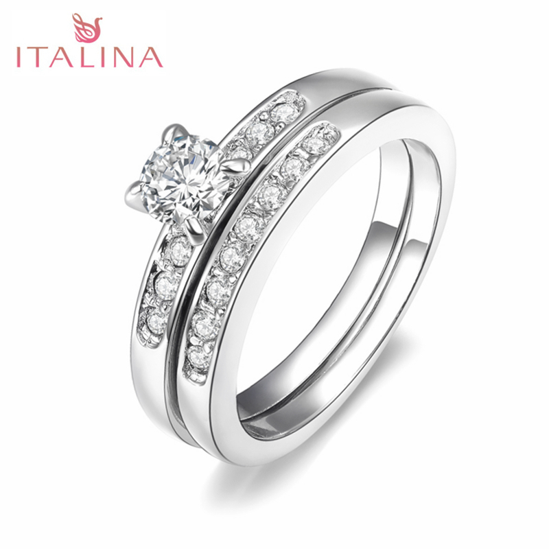 Italina Rigant Fashion Silver Color Rose Gold Color Crystal