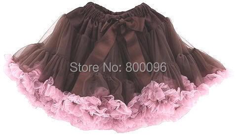 Hot sale pettiskirt tutu coffee pink tutu skirts children clothes PETS-024