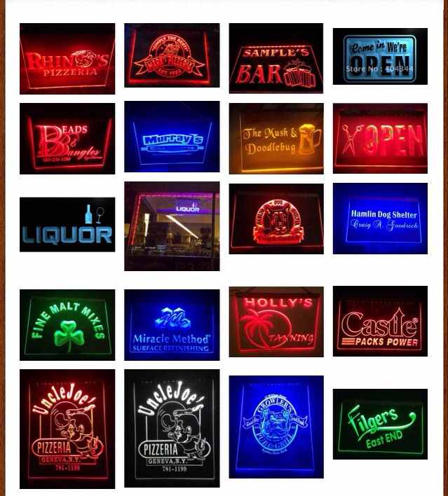 8 Colors 4 Different Sizes Design Your Own LED Neon Sign Custom Neon Sign LED Signs Edge Bar Dropshipping
