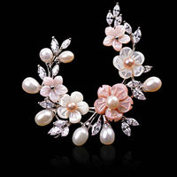 South Korean High Grade Fashionable Joker Ms Brooch Natural Freshwater Pearl Accessories Pin Jewelry Gifts Wholesale