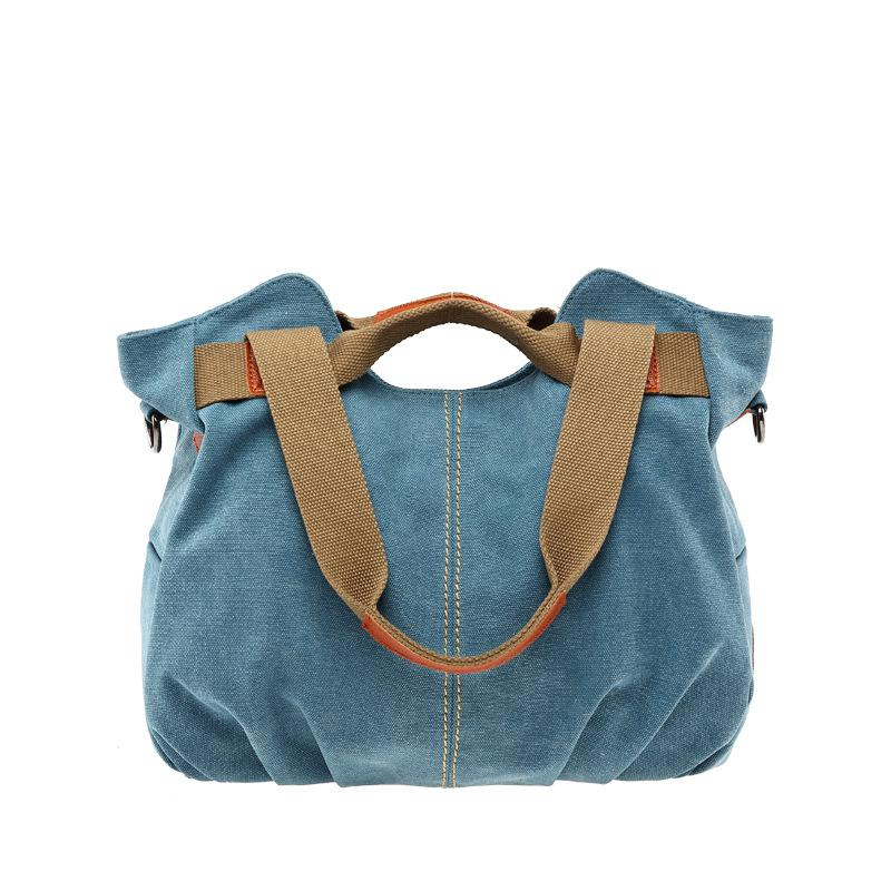 2017 Summer Women Korean Style Canvas Shoulder Bag Lady Diagonal Trendy Leisure Handbag Bolsas Sac Day Clutches Mujer Tote