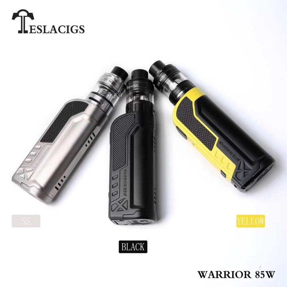 Original Tesla Warrior 85W Starter Kit vaporizer H8 Mini vape tank 18650 battery TC mode electronic cigarette starter kit цена