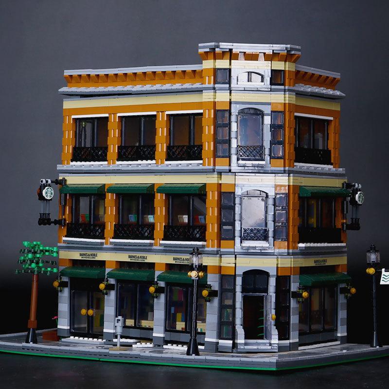 где купить Building Blocks City Street 15017 Starbucks Bookstore Cafe Toys For Children Bricks lepin city street in blocks Led Light Set по лучшей цене
