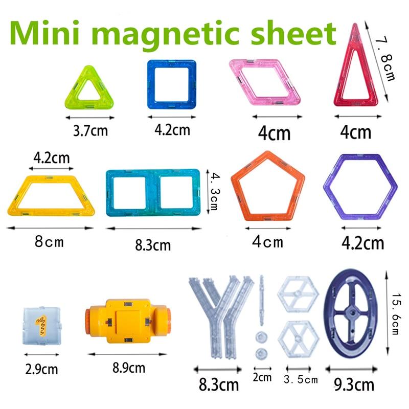 Розничная продажа, 1 шт., мини Магнитные дизайнерские игрушки, детские развивающие игрушки, пластиковые креативные кирпичи, развивающие маг...