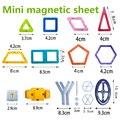 Venta al por menor 1 Uds. Mini juguete magnético de diseño juguetes educativos para niños bloques de construcción de plástico creativos iluminar bloques de construcción magnéticos