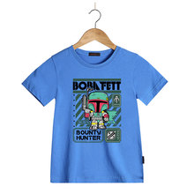New Arrive Star Wars Boba Fett Hunting Printed T Shirts Summer Men/Boy Short Sleeve Cool Tee Tops Clothes