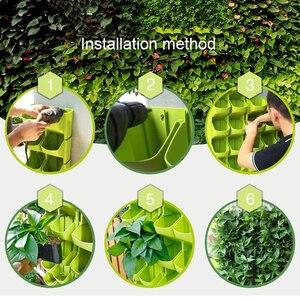 Image 4 - 2019 Hoa Xếp Chồng Tường Dụng Cụ Bào Vườn Chậu Hoa TREO TƯỜNG Thẳng Đứng Hút Mật Vật Có Hoa Cây Cảnh Trang Trí Nhà
