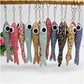 10 pcs grandes olhos de peixe/macaco de pano animal pingentes, chave da cadeia de brinquedos, crianças bebê de aniversário de casamento de Natal presentes da promoção meninas meninos