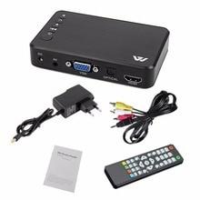 Мини Портативный Full HD 1920x1080 HDMI VGA AV USB жесткий диск U диск плеер мультимедийный плеер H7 для дома автомобиля офиса