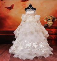 2018 Anime Code Geass cosplay Euphemia Li Britannia/Euphy cos sweet Improved long dress costume Wedding dress Halloween Christma