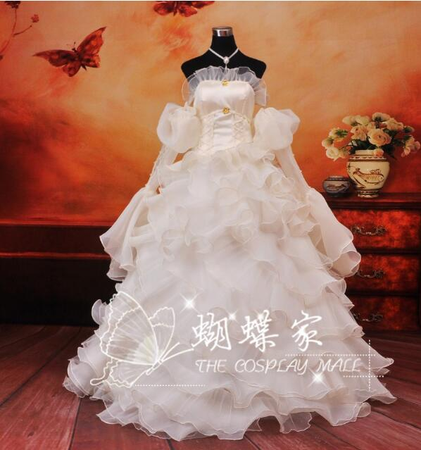 2018 Anime Code Geass cosplay Euphemia Li Britannia/Euphy cos sweet Improved long dress costume Wedding dress Halloween Christma