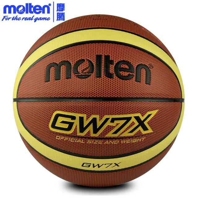 79fa19a6b62d6 D'origine molten ballon de basket gw7x nouvelle marque de haute qualité  véritable molten pu
