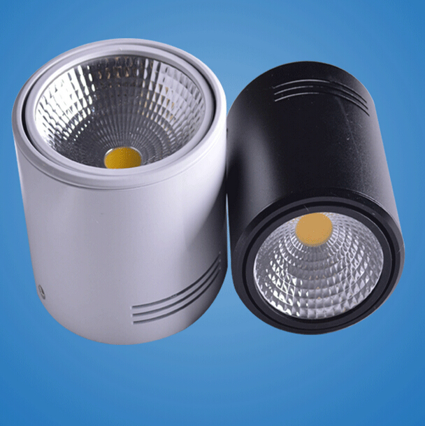 uk availability ad53a b0461 US $161.28 36% OFF|Hot sale 12W/18W Surface Mounted LED Downlights  AC110V/AC220V LED Downlight With White/Cold White/Black/White Housing  Colors-in ...