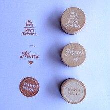 3 узора Круглый Деревянный Штамп для скрапбукинга канцелярские DIY винтажный деревянный штамп