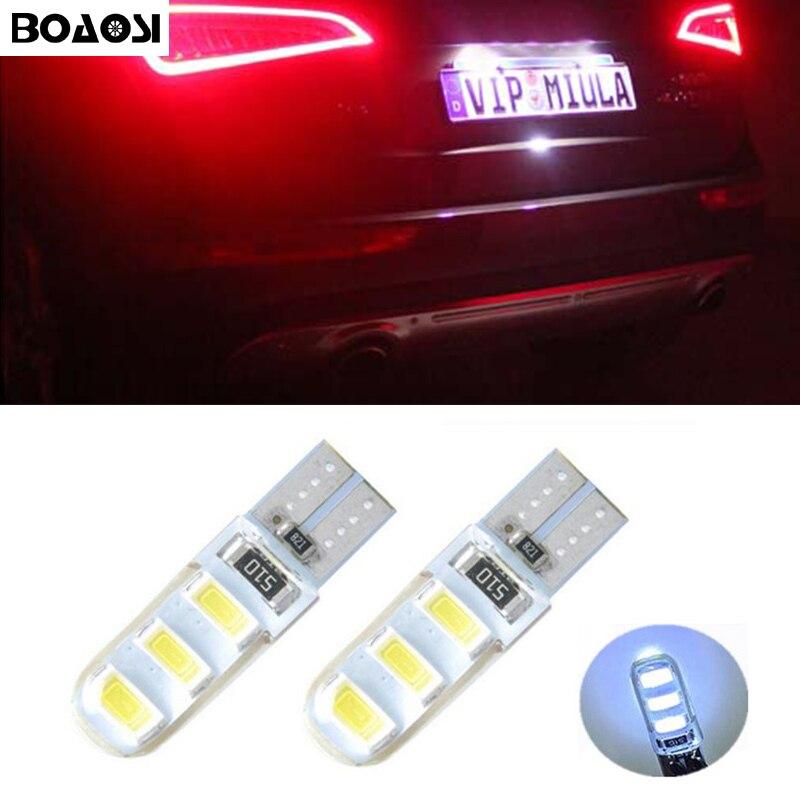 BOAOSI 2x Canbus Osvětlení SPZ LED T10 5630SMD pro Hyundai Tucson IX35 I30 Elantra Accent Sonata Santa Veracrus Rohens