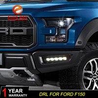 Free shipping 12V 6000k LED DRL Daytime running light case for Ford Raptor F150 2017 2018 fog lamp frame Raptor F150 Fog light