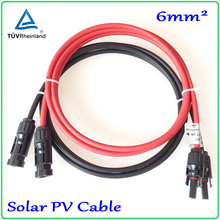 Solar Panel Cable PV Type Wire MC4 Extension 6mm2 Cable with Male