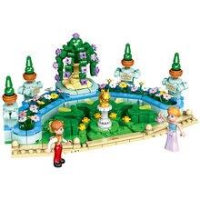 Xingbao 12022 Королевский сад строительные блоки городской Девушки