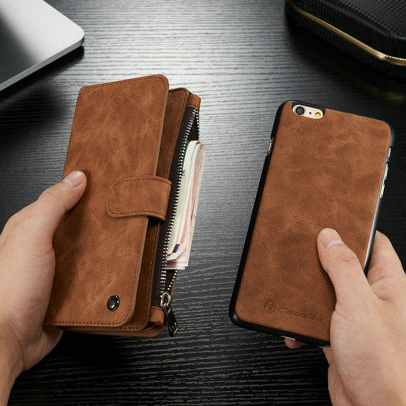i6 6s Leather Wallet Case For iPhone 6 6S 4.7 Inch Phone Bag Cover For iPhone 6S Plus 5.5″ Stand Card Slot