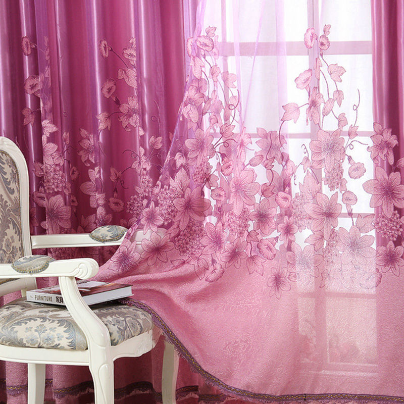 1pcs Luxurious Curtain Upscale Jacquard Yarn Curtains for Living ...