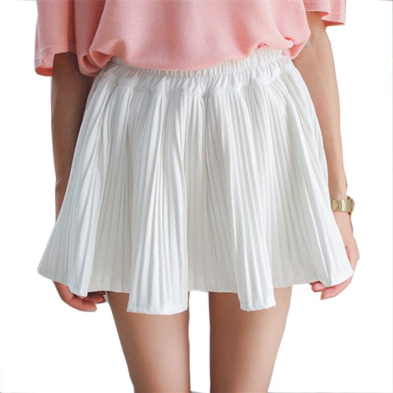 2f8d6641 ⊹2018 kobiety moda Lato Elastyczny Pas Kawaii plisowane spódnice ...