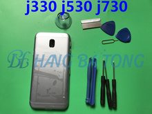 For SAMSUNG Galaxy J330 J530 J730 Back Housing J3 J5 J7 2017 Battery Door Cover Rear Case Frame Chassis Replace Housing