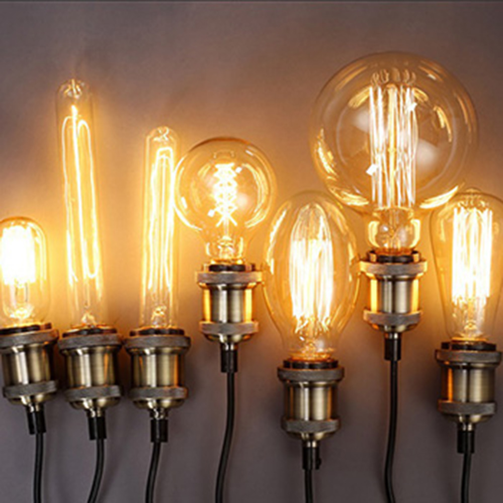 SUNLI HOUSE Retro Edison Bulb 1PCS 40W Vintage Lamp E27 Filament ST64 Light Bulb Warm 220V Antique Incandescent Bulb lumiparty antique light bulb classical edison bulb e27 8w filament tubular nostalgic filament incandescent home lamp
