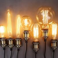 SUNLI HOUSE Retro Edison Bulb 1PCS 40W Vintage Lamp E27 Filament ST64 Light Bulb Warm 220V Antique Incandescent Bulb
