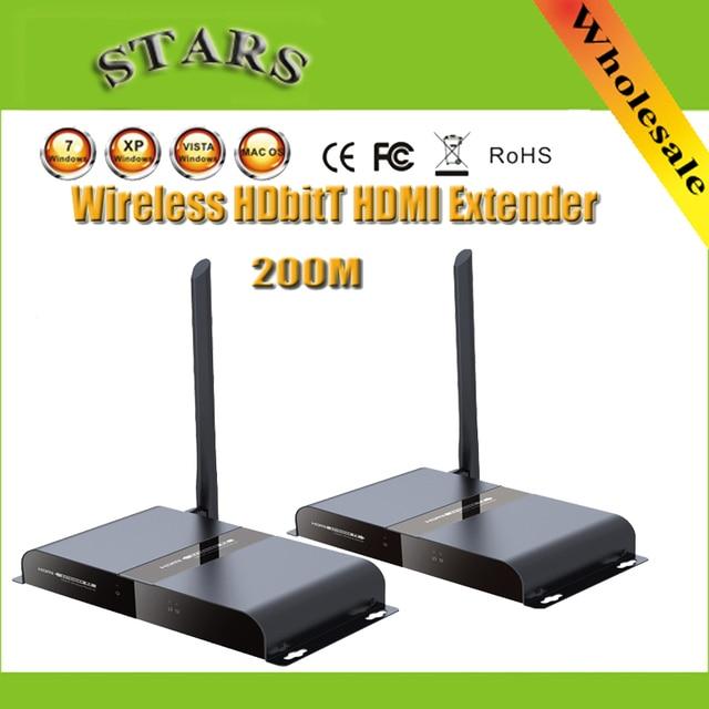 1080 P 200 М/656Ft LKV388A Беспроводной HDbitT HDMI WI-FI Ретранслятор Range Extender Передатчик и Приемник С ИК-Пульта Дистанционного HDTV Проектор
