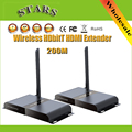1080P 200M/656Ft LKV388A Wireless HDbitT HDMI WIFI Range Extender Transmitter&Receiver Repeater With IR Remote HDTV Projector