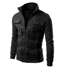 купить Plus Size Tracksuit Sweatshirts For Men Slim Fit Sportswear Jacket Full Zip Up Fashion Coats Stand Collar Streetwear 2019 Spring по цене 802.65 рублей