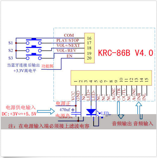 DIY module KRC 86B Bluetooth 4 0 stereo audio receiver module module cards picture more detailed picture about diy module krc  at bakdesigns.co